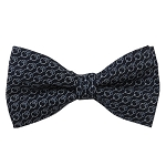 PB-04A | Pre-tied Chain Link Patterns on Navy Blue Men's Printed Design Bow Tie