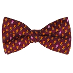 PB-06A | Pre-tied Yellow Elephant Pattern on Maroon Men's Printed Design Bow Tie