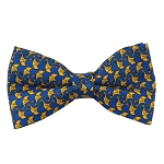 PB-07A | Pre-tied Big Yellow Elephant Print on Royal Blue Men's Printed Design Bow Tie