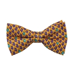 PB-08 | Pre-tied Purple Elephant w. Ball on Yellow Men's Printed Design Bow Tie
