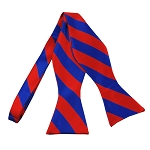 SDS-3601 | Self Tie Royal Blue and Red College Stripe Bow Tie