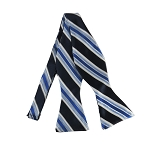 DBS-131A | Navy Blue, Steel Blue and Royal Blue Multi-Striped Men's Woven Self Tie Bow Tie