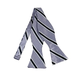 DBS-132A | Lavender and Navy Blue Narrow Striped Men's Woven Self Tie Bow Tie