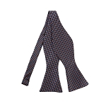 DBS-179 | Coral and Steel Blue Geometric Pixel Men's Woven Self Tie Bow Tie