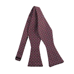 PBS-02B | Self Tie Circle Print Pattern on Light Raspberry Men's Printed Design Bow Tie