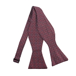 PBS-04B | Self Tie Chain Link Patterns on Crimson Red Men's Printed Design Bow Tie