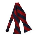 SDS-5301 | Self Tie Navy and Red College Stripe Bow Tie