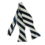 SDS-5320 | Self Tie Navy and White College Stripe Bow Tie