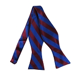 SDS-6236 | Self Tie Royal Blue and Burgundy College Stripe Bow Tie