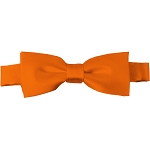 BTK-03 | Kids Solid Orange Pre-Tied Bow Tie