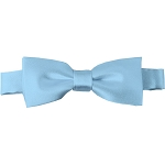 BTK-26 | Kids Solid Powder Blue Pre-Tied Bow Tie