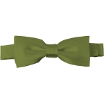 BTK-34 | Kids Solid Olive Green Pre-Tied Bow Tie