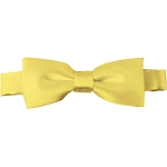 BTK-45 | Kids Solid Baby Yellow Pre-Tied Bow Tie