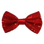 SBT-01 | Solid Red Men's Pre-Tied Sequin Bow Ties