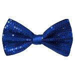 SBT-36 | Solid Royal Blue Men's Pre-Tied Sequin Bow Ties