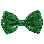 SBT-38 | Solid Kelly Green Men's Pre-Tied Sequin Bow Ties