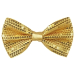 SBT-75 | Solid Honey Gold Men's Pre-Tied Sequin Bow Ties