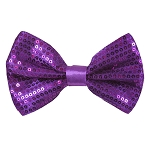 SBT-77 | Solid Plum Violet Men's Pre-Tied Sequin Bow Ties