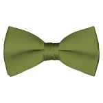 BT-34 | Solid Olive Green Men's Pre-Tied Bow Ties