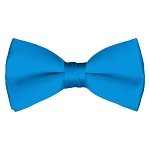 BT-35 | Solid Blue Aster Men's Pre-Tied Bow Ties