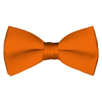BT-03 | Solid Orange Men's Pre-Tied Bow Ties
