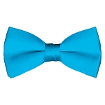 BT-18 | Solid Turquoise Men's Pre-Tied Bow Ties