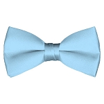BT-26 | Solid Powder Blue Men's Pre-Tied Bow Ties