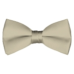 BT-41 | Solid Beige Men's Pre-Tied Bow Ties