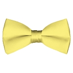 BT-45 | Solid Baby Yellow Pre-Tied Bow Tie