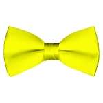 BT-49 | Solid Lemon Yellow Men's Pre-Tied Bow Ties