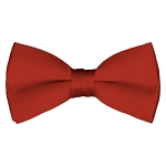 BT-56 | Solid Rust Red Pre-Tied Bow Tie