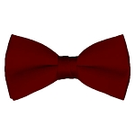 BT-62 | Solid Burgundy Men's Pre-Tied Bow Ties