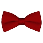 BT-64 | Solid Crimson Red Men's Pre-Tied Bow Ties