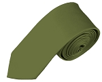 YS-34 | Boy's Solid Necktie in Olive Green