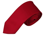 YS-64 | Boys' Solid Crimson Necktie