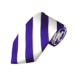 DS-3120 | Purple and White College Stripe Woven Tie