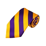 DS-3148 | Purple and Gold College Stripe Woven Tie