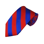 DS-3601 | Royal Blue and Red College Stripe Woven Tie