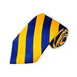 DS-3648 | Royal Blue and Yellow College Stripe Woven Tie