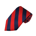 DS-5301 | Navy and Red College Stripe Woven Tie