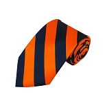 DS-5303 | Navy and Orange College Stripe Woven Tie