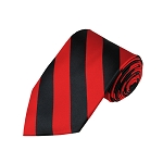 DS-5801 | Black and Red College Stripe Woven Tie
