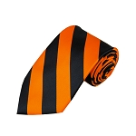 DS-5803 | Black and Orange College Stripe Woven Tie