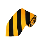 DS-5848 | Black and Gold College Stripe Woven Tie