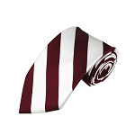 DS-6220 | Burgundy and White College Stripe Woven Tie