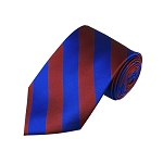 DS-6236 | Burgundy and Royal Blue College Stripe Woven Tie