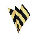 DHS-5875 | Black and Honey Gold College Stripe Handkerchief