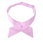 CO-17 | Solid Light Pink Crossover Tie for Women