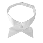 CO-20 | Solid White Crossover Tie for Women