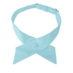 CO-26 | Solid Powder Blue Crossover Tie for Women